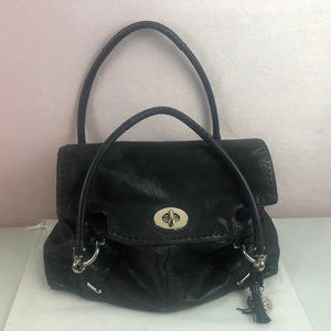 Coach Black Hobo Carryall with Silver Hardware